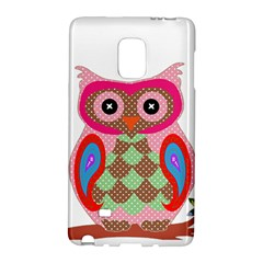 Owl Colorful Patchwork Art Galaxy Note Edge