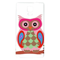 Owl Colorful Patchwork Art Galaxy Note 4 Back Case