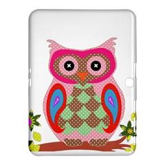 Owl Colorful Patchwork Art Samsung Galaxy Tab 4 (10.1 ) Hardshell Case
