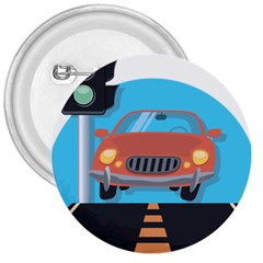 Semaphore Car Road City Traffic 3  Buttons