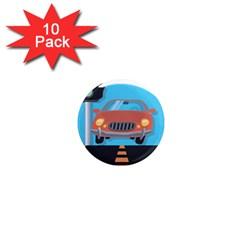 Semaphore Car Road City Traffic 1  Mini Magnet (10 pack)
