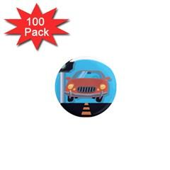 Semaphore Car Road City Traffic 1  Mini Magnets (100 pack)