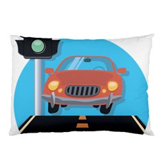 Semaphore Car Road City Traffic Pillow Case