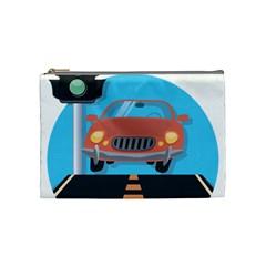 Semaphore Car Road City Traffic Cosmetic Bag (Medium)
