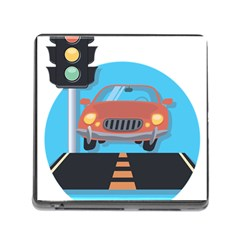 Semaphore Car Road City Traffic Memory Card Reader (Square)