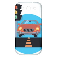 Semaphore Car Road City Traffic Samsung Galaxy S3 S III Classic Hardshell Back Case