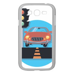 Semaphore Car Road City Traffic Samsung Galaxy Grand DUOS I9082 Case (White)