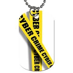 Internet Crime Cyber Criminal Dog Tag (One Side)