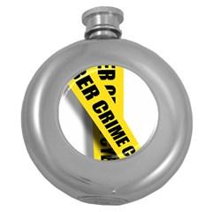 Internet Crime Cyber Criminal Round Hip Flask (5 oz)