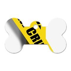 Internet Crime Cyber Criminal Dog Tag Bone (Two Sides)