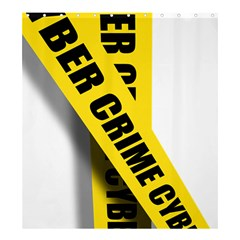 Internet Crime Cyber Criminal Shower Curtain 66  x 72  (Large)
