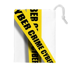 Internet Crime Cyber Criminal Drawstring Pouches (Extra Large)