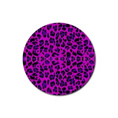 Pattern Design Textile Rubber Round Coaster (4 pack)