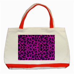 Pattern Design Textile Classic Tote Bag (Red)