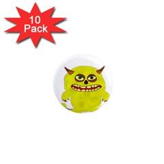 Monster Troll Halloween Shudder 1  Mini Magnet (10 pack)