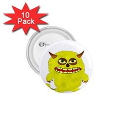Monster Troll Halloween Shudder 1.75  Buttons (10 pack)