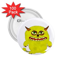 Monster Troll Halloween Shudder 2.25  Buttons (100 pack)