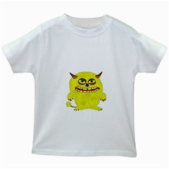 Monster Troll Halloween Shudder Kids White T-Shirts