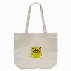 Monster Troll Halloween Shudder Tote Bag (Cream)