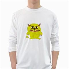 Monster Troll Halloween Shudder White Long Sleeve T-Shirts