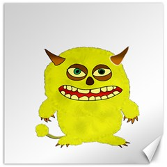 Monster Troll Halloween Shudder Canvas 12  x 12