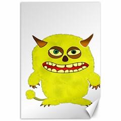 Monster Troll Halloween Shudder Canvas 12  x 18