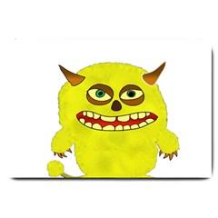 Monster Troll Halloween Shudder Large Doormat