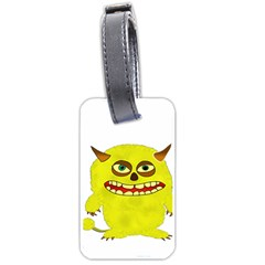 Monster Troll Halloween Shudder Luggage Tags (One Side)