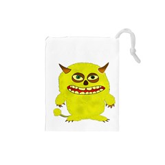 Monster Troll Halloween Shudder Drawstring Pouches (Small)