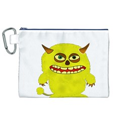 Monster Troll Halloween Shudder Canvas Cosmetic Bag (XL)