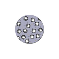 Rocket Ship Wallpaper Background Golf Ball Marker (4 pack)