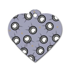 Rocket Ship Wallpaper Background Dog Tag Heart (One Side)