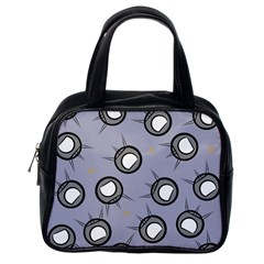 Rocket Ship Wallpaper Background Classic Handbags (One Side)