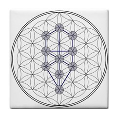 Tree Of Life Flower Of Life Stage Tile Coasters
