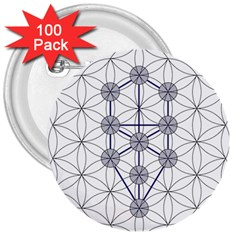 Tree Of Life Flower Of Life Stage 3  Buttons (100 pack)