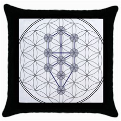 Tree Of Life Flower Of Life Stage Throw Pillow Case (Black)