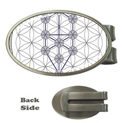 Tree Of Life Flower Of Life Stage Money Clips (Oval)