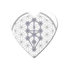 Tree Of Life Flower Of Life Stage Heart Magnet
