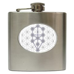 Tree Of Life Flower Of Life Stage Hip Flask (6 oz)