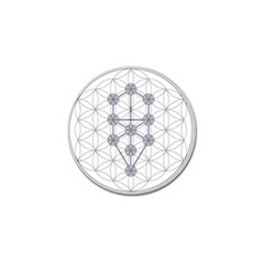 Tree Of Life Flower Of Life Stage Golf Ball Marker (4 pack)