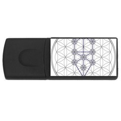Tree Of Life Flower Of Life Stage USB Flash Drive Rectangular (1 GB)