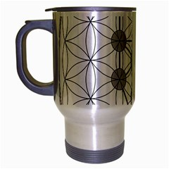 Tree Of Life Flower Of Life Stage Travel Mug (Silver Gray)