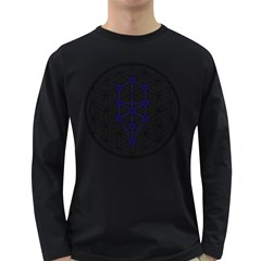 Tree Of Life Flower Of Life Stage Long Sleeve Dark T-Shirts