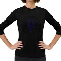 Tree Of Life Flower Of Life Stage Women s Long Sleeve Dark T-Shirts