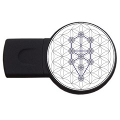 Tree Of Life Flower Of Life Stage USB Flash Drive Round (4 GB)