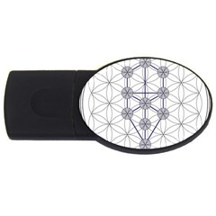 Tree Of Life Flower Of Life Stage USB Flash Drive Oval (4 GB)