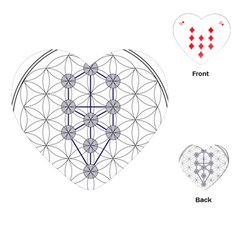 Tree Of Life Flower Of Life Stage Playing Cards (Heart)