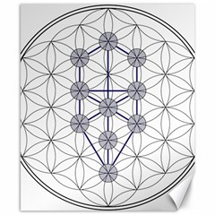 Tree Of Life Flower Of Life Stage Canvas 8  x 10