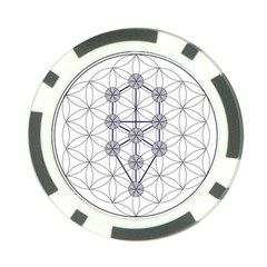Tree Of Life Flower Of Life Stage Poker Chip Card Guard