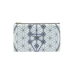 Tree Of Life Flower Of Life Stage Cosmetic Bag (Small)